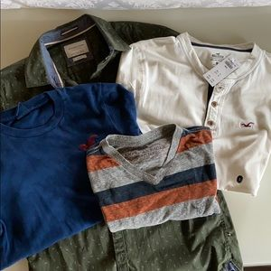 Hollister NWT plus 2 AE and Denim and Flower Small